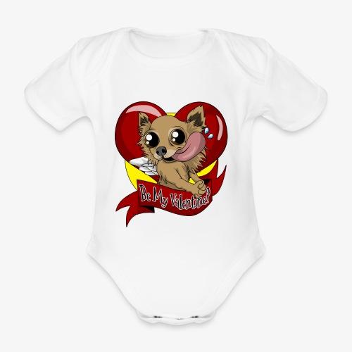 Engla Be my valentine? - Ekologisk kortärmad babybody