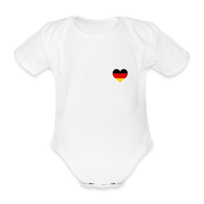 Baby Body I Love Germany Deutschland-Herz Fußball WM-Shirt Fanshirt