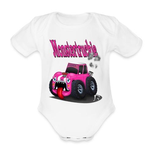 Monstertruckie - Baby bio-rompertje met korte mouwen