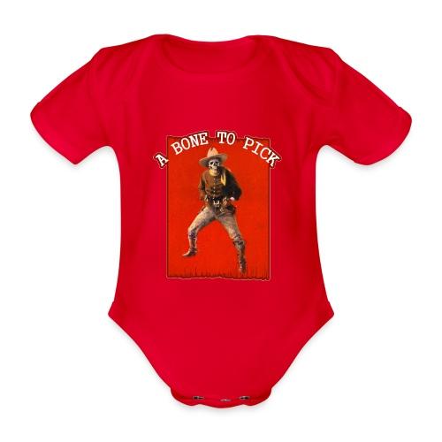 Vintage Skeleton Outlaw Cowboy - Organic Short-sleeved Baby Bodysuit