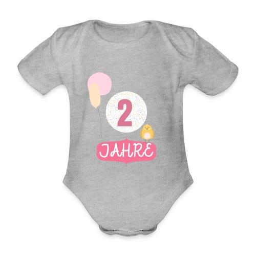 2 Jahre // Geschenk zum 2. Geburtstag - Baby Bio-Kurzarm-Body