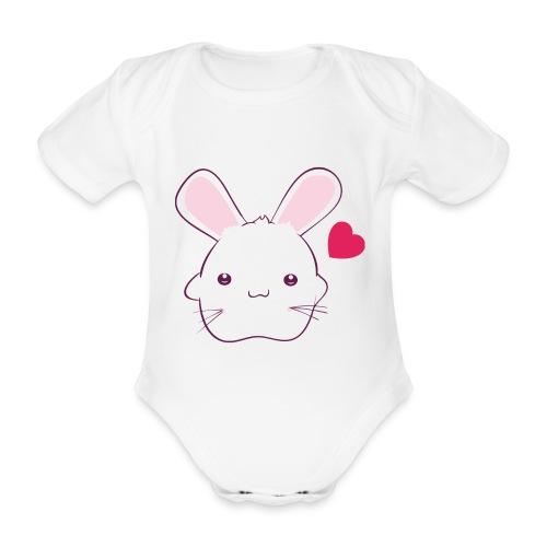 Konijn voor meisjes - Baby bio-rompertje met korte mouwen