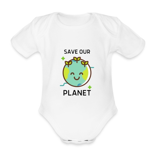 Save our planet LIGHT - Organic Short-sleeved Baby Bodysuit