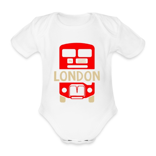London Bus Roter Doppeldecker London Fan Souvenir - Baby Bio-Kurzarm-Body