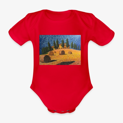 tuscany - Organic Short-sleeved Baby Bodysuit