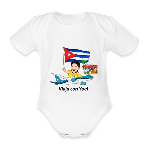 Cuba - Viaja con Yoel - Body orgánico de manga corta para bebé