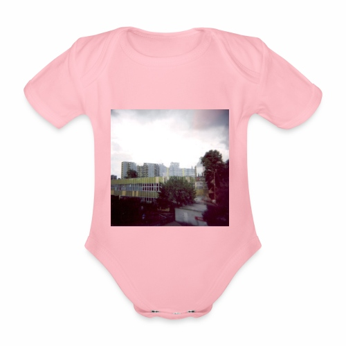 Original Artist design * Blocks - Organic Short-sleeved Baby Bodysuit