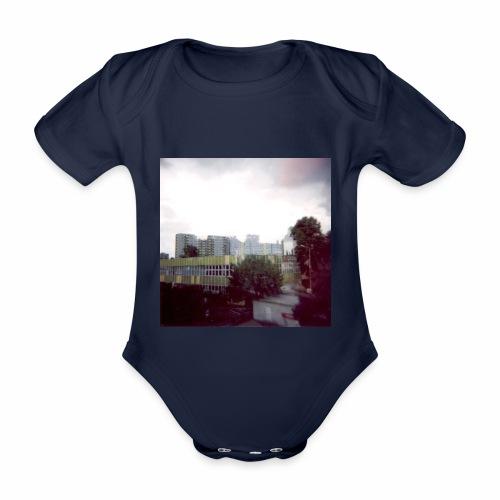 Original Artist design * Blocks - Organic Short-sleeved Baby Bodysuit