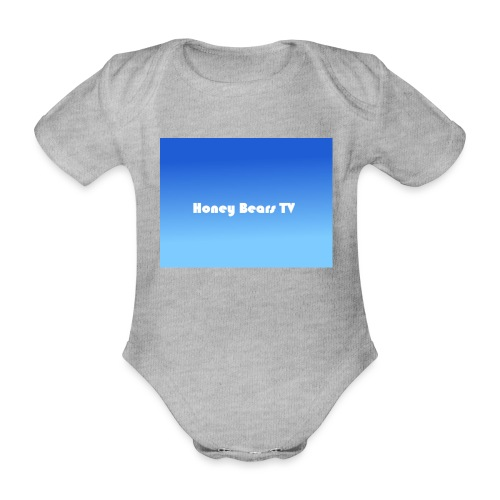 Honey Bears TV Merch - Organic Short-sleeved Baby Bodysuit