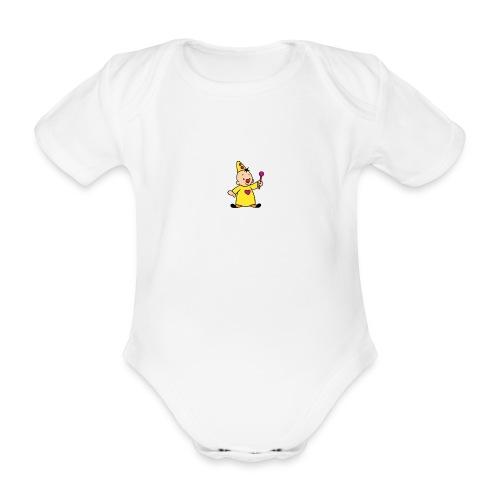 clowntje - Baby bio-rompertje met korte mouwen