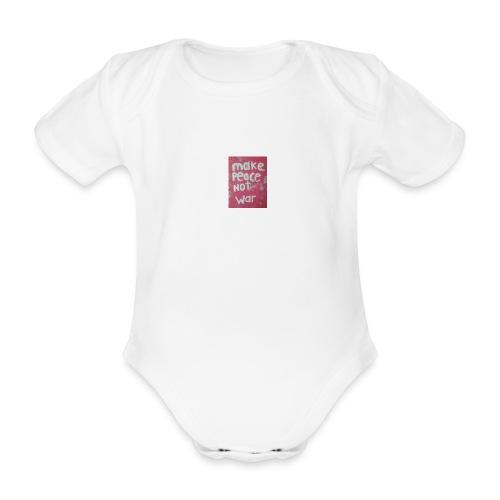 Make peace not war - Ekologisk kortärmad babybody