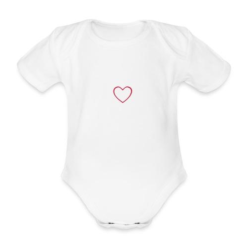 Hjärta 4 - Ekologisk kortärmad babybody