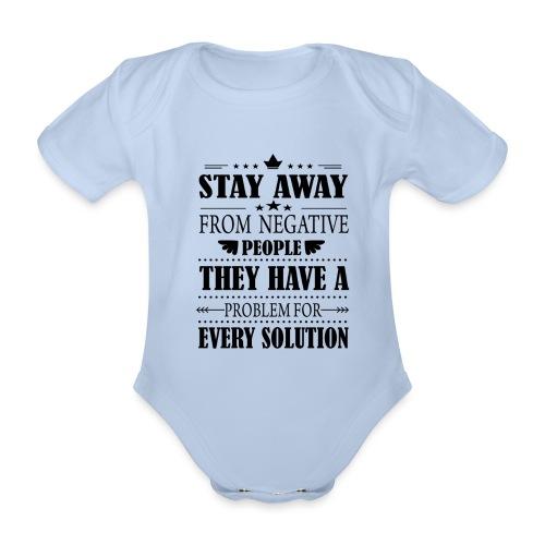 Stay away - Vauvan lyhythihainen luomu-body