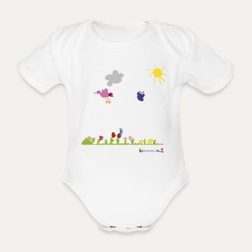Blumenwiese von Marie - Baby Bio-Kurzarm-Body