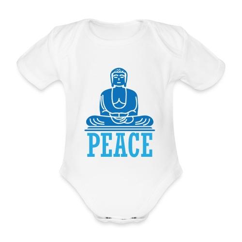 Buddha Meditating. - Organic Short-sleeved Baby Bodysuit