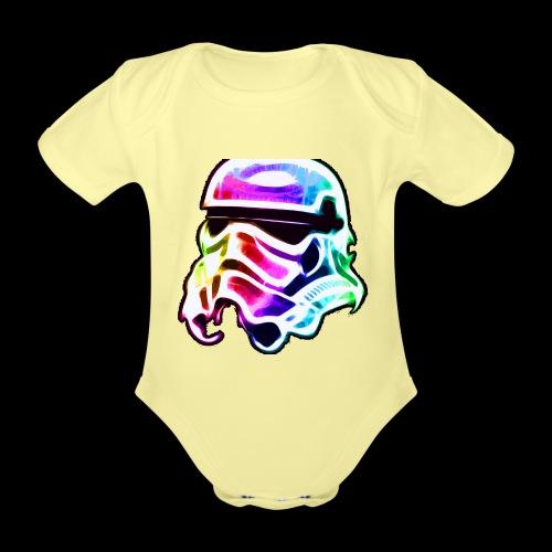 Rainbow Stormtrooper - Organic Short-sleeved Baby Bodysuit