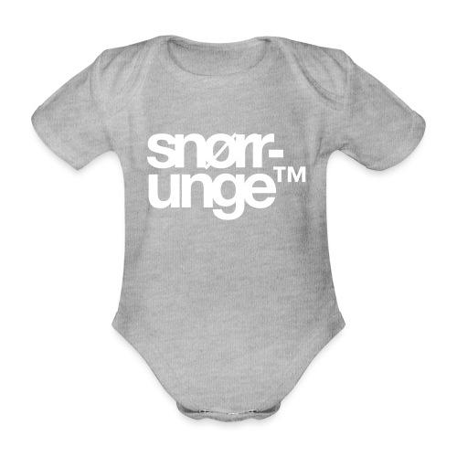 Snørrunge™ - Økologisk kortermet baby-body