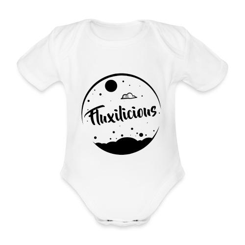 Fluxilicious Logo - Baby bio-rompertje met korte mouwen