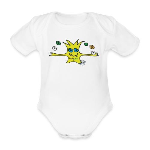 Hug me Monsters - Every little monster needs a hug - Organic Short-sleeved Baby Bodysuit