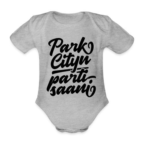 Puistola - Park Cityn partisaani - Vauvan lyhythihainen luomu-body