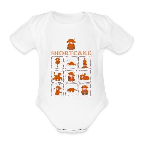 Shortcake - MOOHltiview - Baby Bio-Kurzarm-Body