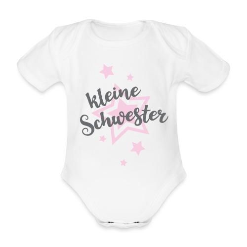 Kleine Schwester Mädchen Baby Geburt Babybody - Baby Bio-Kurzarm-Body