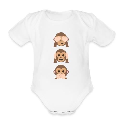 Edición limitada de Monkey Emoji - Body orgánico de maga corta para bebé