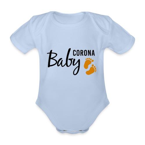 Baby Corona Babybauch Schwangerschaft Quarantäne - Baby Bio-Kurzarm-Body