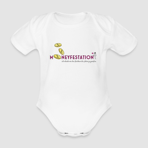 moneyfestation - Baby Bio-Kurzarm-Body