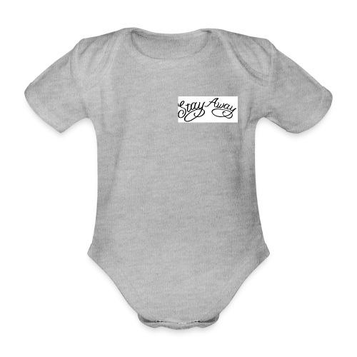 STAY AWAY - Kortærmet babybody, økologisk bomuld
