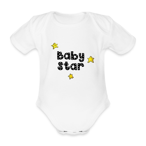 magicstars clip - Organic Short-sleeved Baby Bodysuit