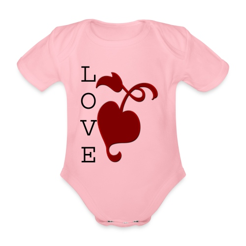 Love Grows - Organic Short-sleeved Baby Bodysuit