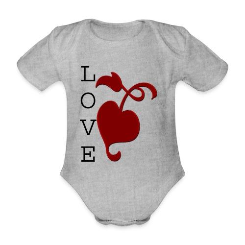 Love Grows - Organic Short-sleeved Baby Bodysuit