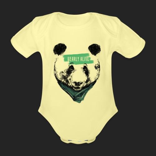 Panda bearly alive - Body Bébé bio manches courtes
