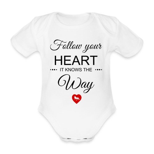 follow your heartbesser - Baby Bio-Kurzarm-Body