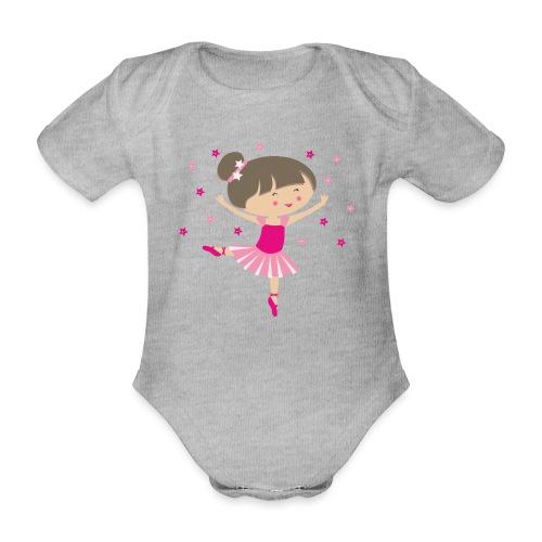 Happy Meitlis - Ballerina - Baby Bio-Kurzarm-Body
