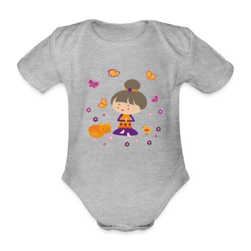 Happy Meitli - Yoga und Meditation - Baby Bio-Kurzarm-Body