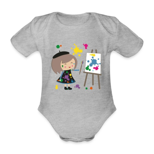 Happy Meitli - Künstlerin - Baby Bio-Kurzarm-Body