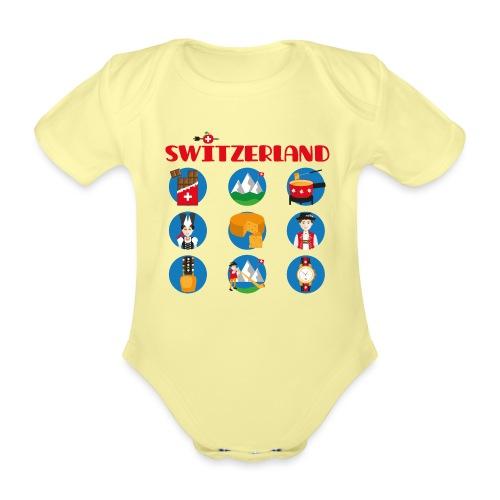Switzerland - Baby Bio-Kurzarm-Body