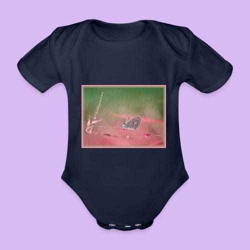 Farfalla nella pioggia leggera - Body ecologico per neonato a manica corta