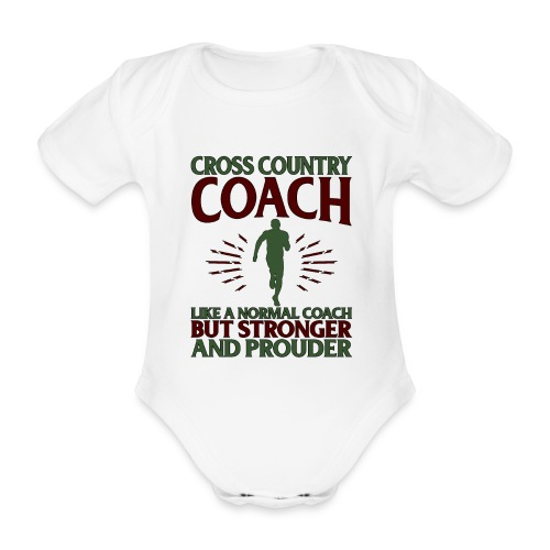 Cross Country Coach Gift Cross Country Coach Like - Organic Short-sleeved Baby Bodysuit