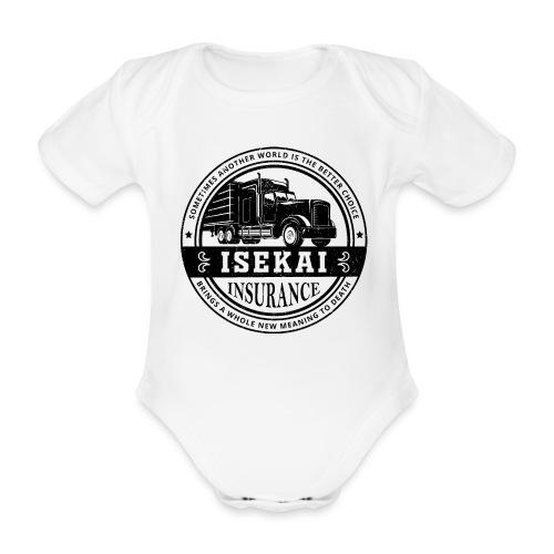 Funny Anime Shirt Isekai insurance Co. - Black - Baby bio-rompertje met korte mouwen