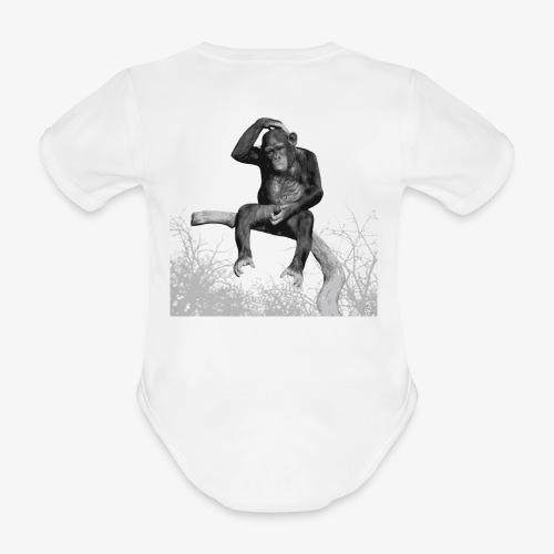 Monkey Music - Organic Short-sleeved Baby Bodysuit