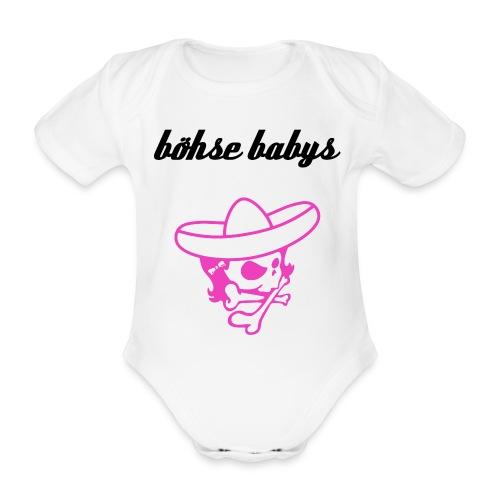 böhse babys Logo - Baby Bio-Kurzarm-Body