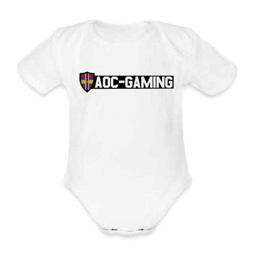 aoc logo s tr - Ekologisk kortärmad babybody