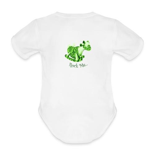 Rock_me - Baby bio-rompertje met korte mouwen