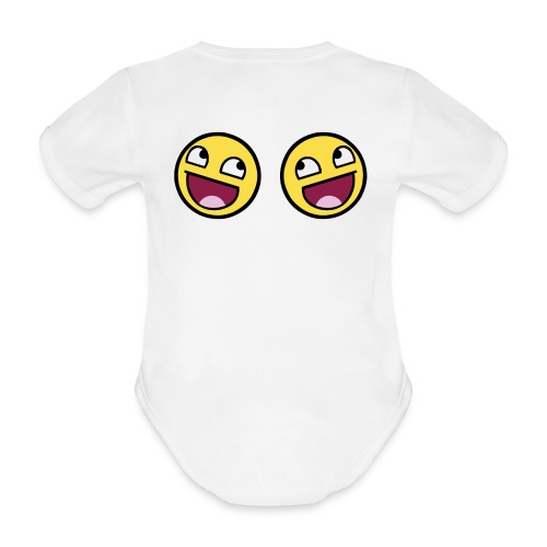 Boxers lolface 300 fixed gif - Organic Short-sleeved Baby Bodysuit