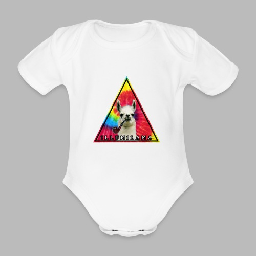 Illumilama logo T-shirt - Organic Short-sleeved Baby Bodysuit
