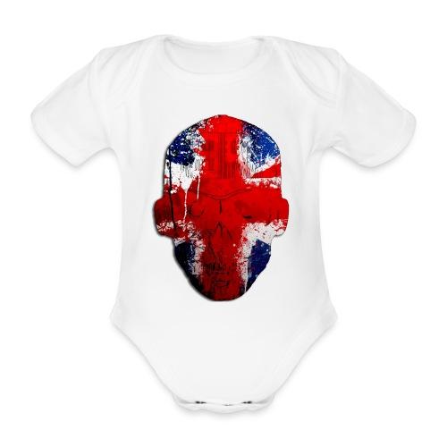 Borg recordings uk Union flag MetaSkull T Shirt - Organic Short-sleeved Baby Bodysuit