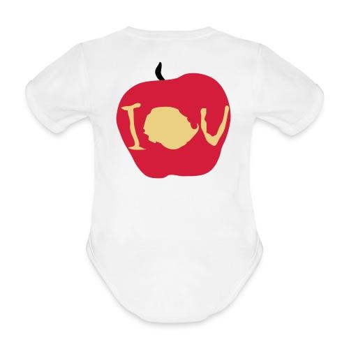 IOU (Sherlock) - Organic Short-sleeved Baby Bodysuit